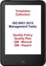 ISO 9001:2015 template collection management tasks